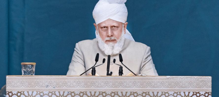 Inspección de la convención anual de la Comunidad Musulmana Ahmadía Alemania tiene lugar en Karlsruhe